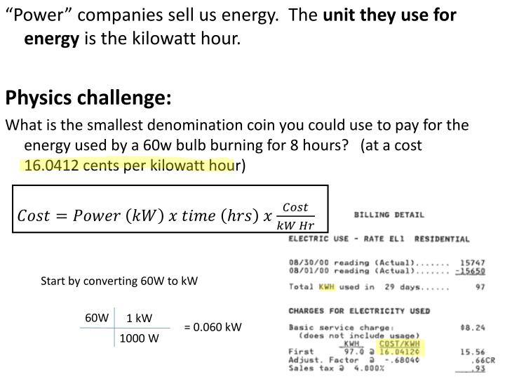 """Power"" companies sell us energy.  The"