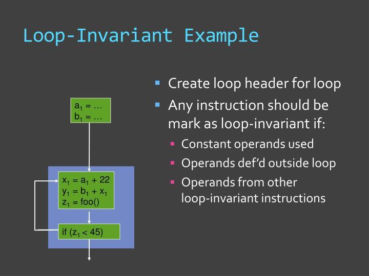 Loop-Invariant Example