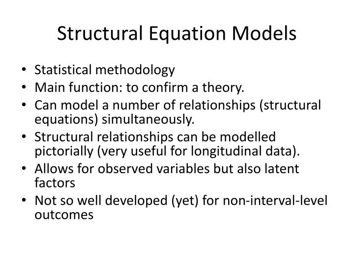 Structural Equation Models