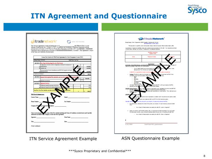 ITN Agreement and Questionnaire