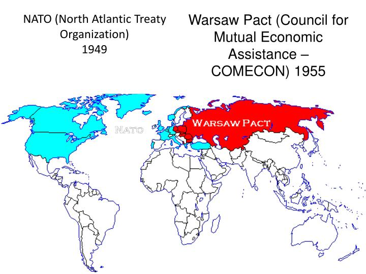 Warsaw Pact (Council for Mutual Economic Assistance – COMECON) 1955