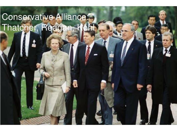 Conservative Alliance: Thatcher, Reagan, Kohl