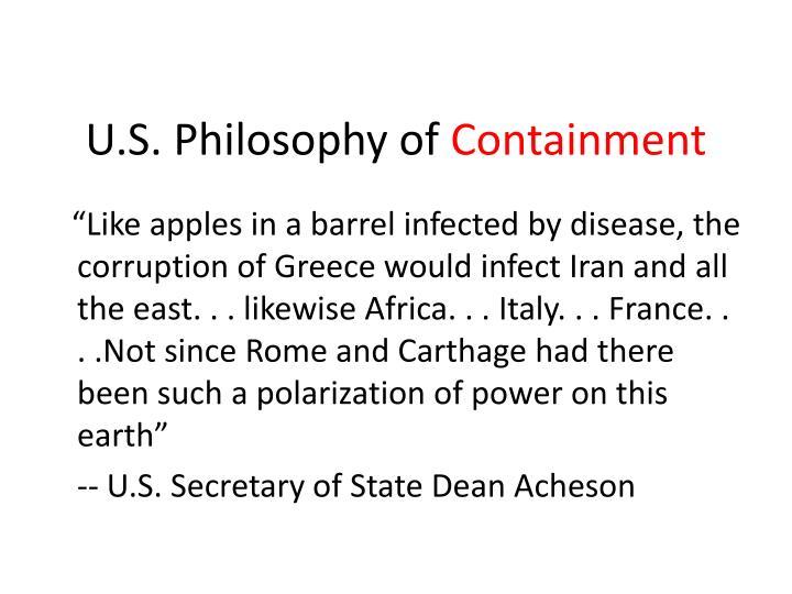 U.S. Philosophy of