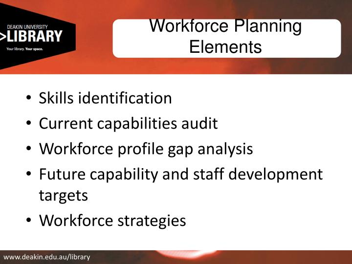 Workforce Planning Elements