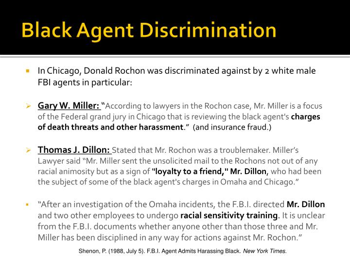 Black Agent Discrimination