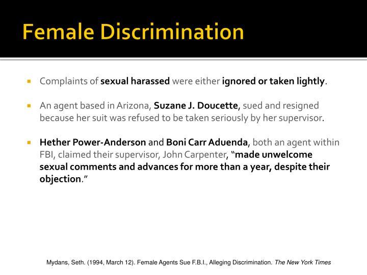 Female Discrimination