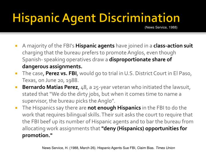 Hispanic Agent Discrimination