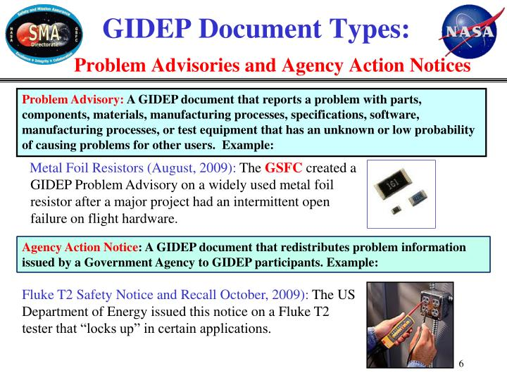 GIDEP Document Types: