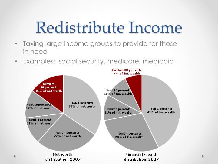 Redistribute Income