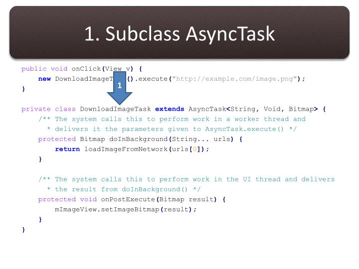 1. Subclass