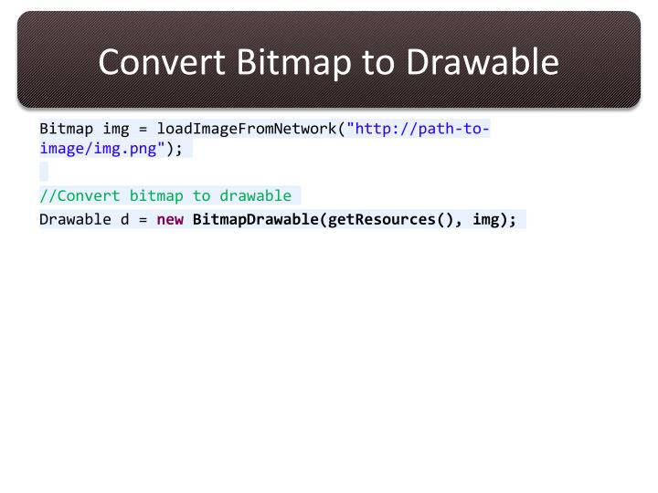 Convert Bitmap to