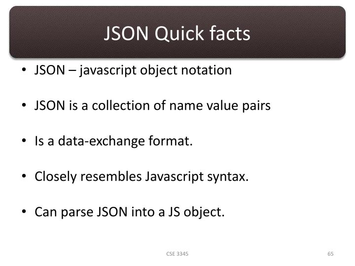 JSON Quick facts