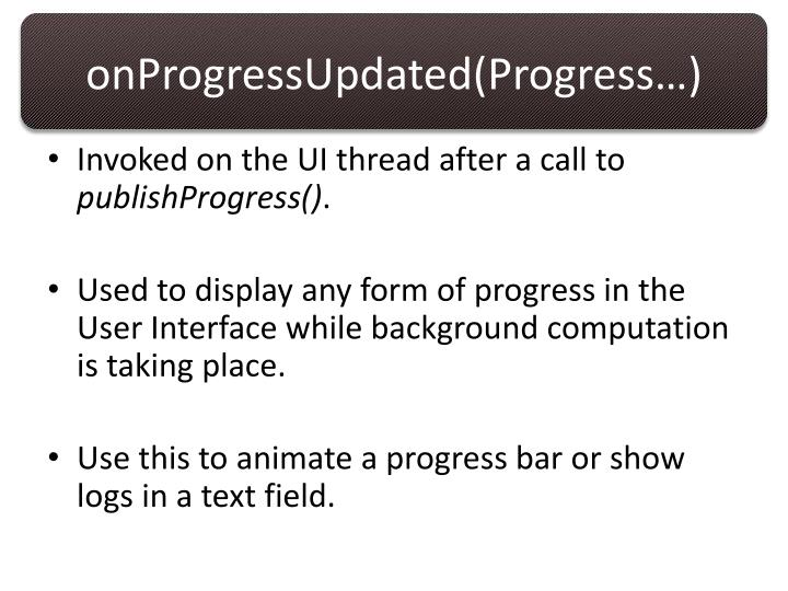 onProgressUpdated