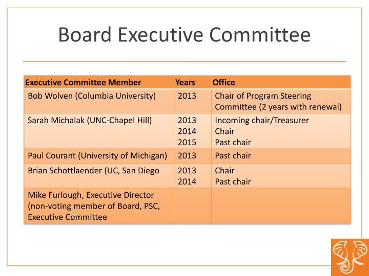 Board Executive Committee