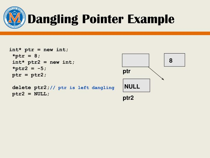 Dangling Pointer Example