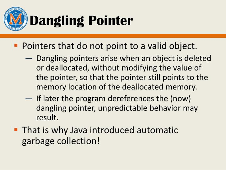 Dangling Pointer