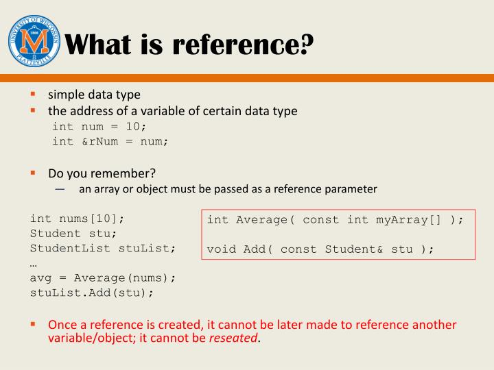 What is reference?