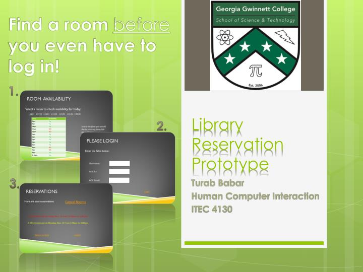 Library reservation prototype