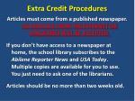 extra credit procedures1