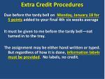 extra credit procedures2
