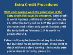 extra credit procedures3