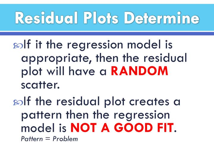 Residual Plots Determine