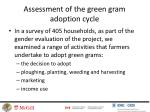 assessment of the green gram adoption cycle