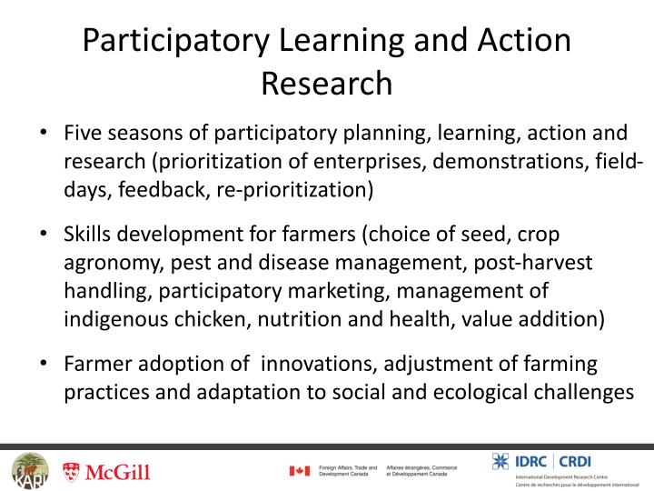 Participatory Learning and Action Research