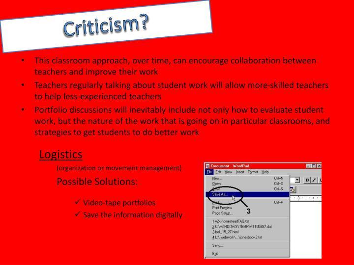 Criticism?