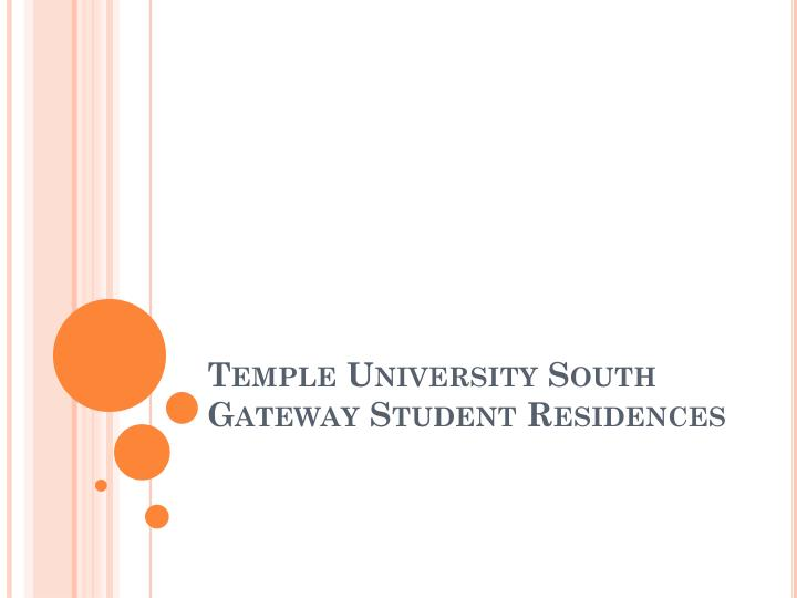 Temple university south gateway student residences