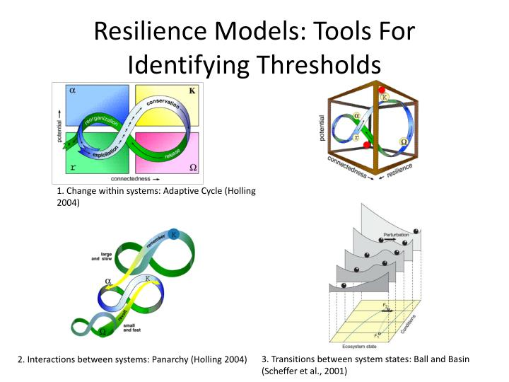 Resilience Models: Tools For Identifying Thresholds