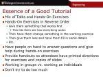 essence of a good tutorial