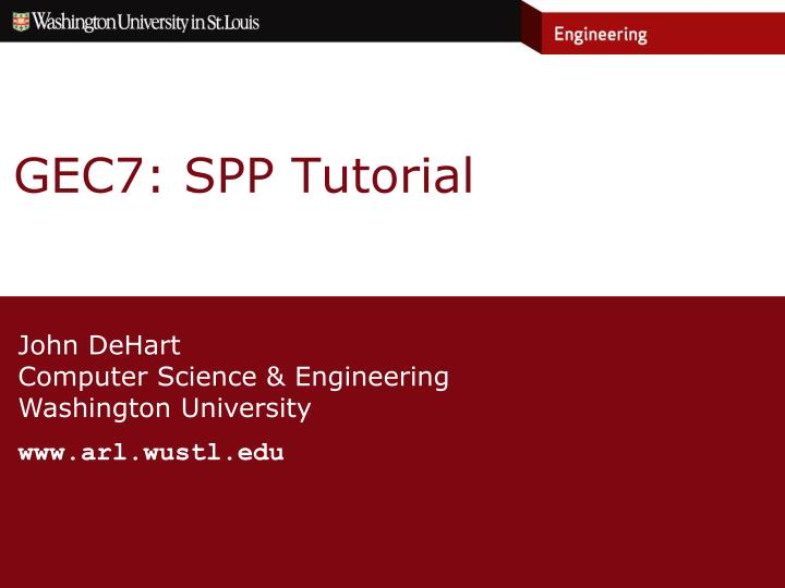 Gec7 spp tutorial