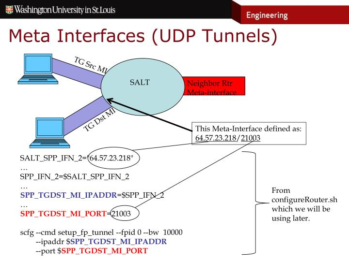 Meta Interfaces (UDP Tunnels)