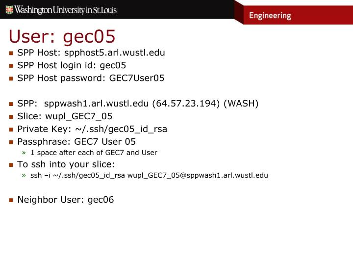 User: gec05