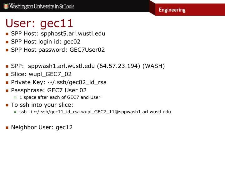 User: gec11