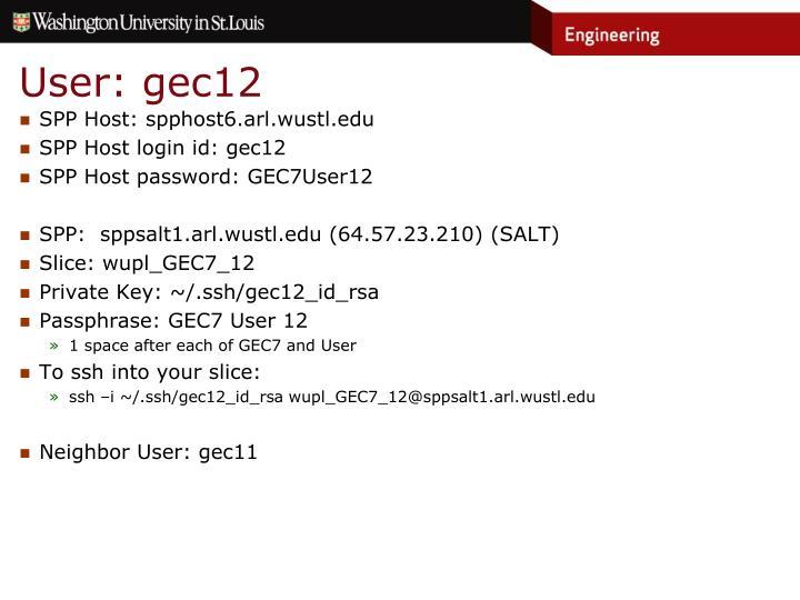 User: gec12