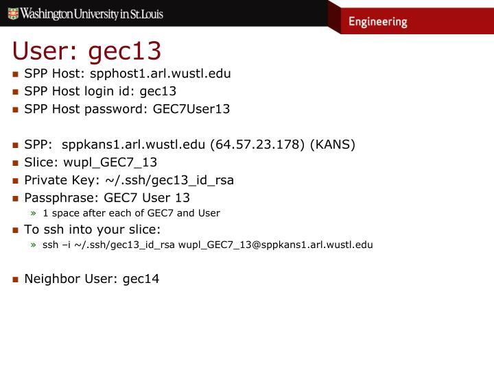 User: gec13