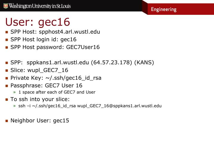 User: gec16