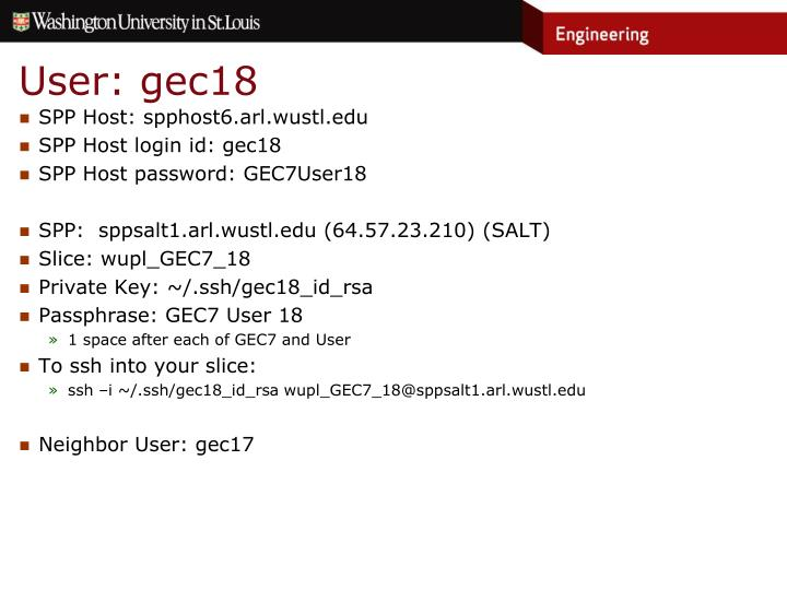 User: gec18