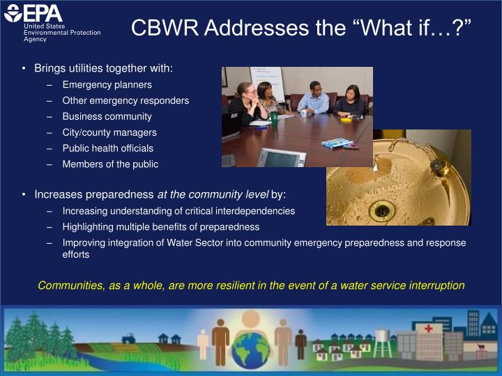 """CBWR Addresses the """"What if…?"""""""