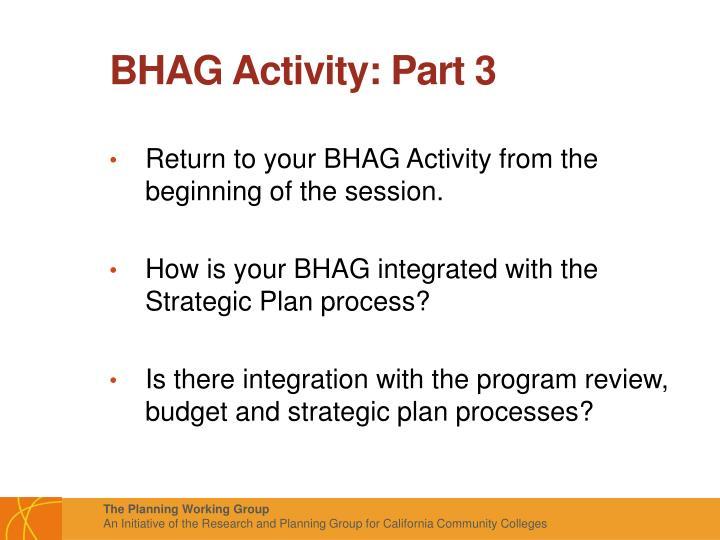 BHAG Activity: Part 3