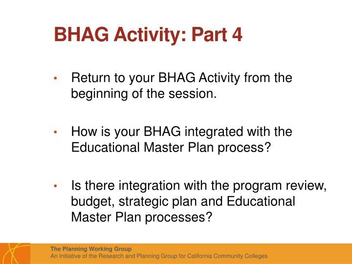 BHAG Activity: Part 4