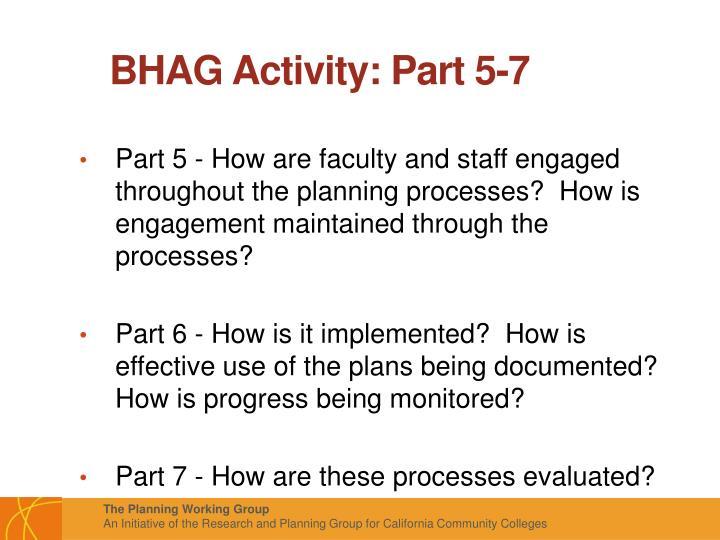 BHAG Activity: Part 5-7