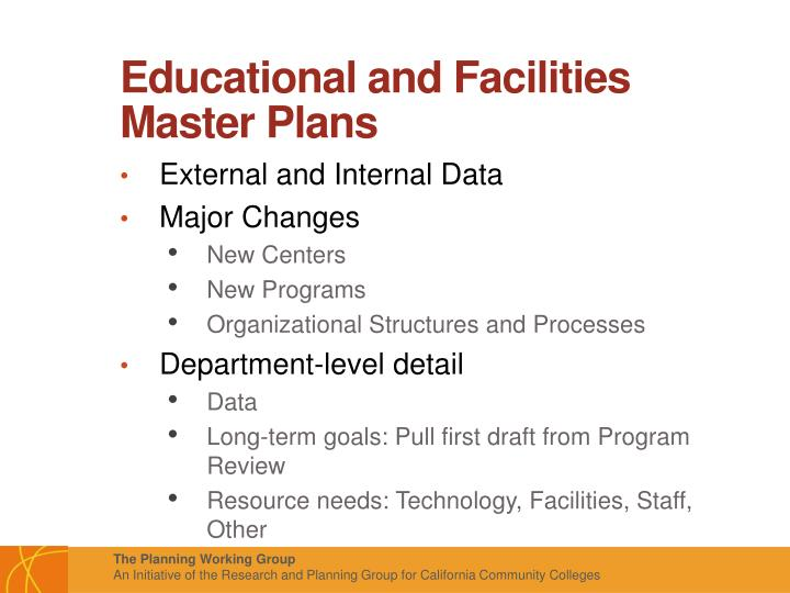 Educational and Facilities Master Plans