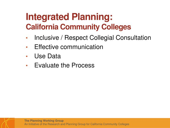 Integrated Planning: