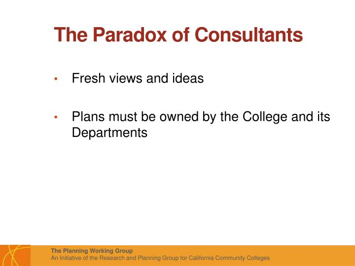 The Paradox of Consultants
