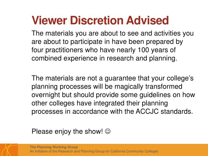 Viewer Discretion Advised
