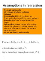 assumptions in regression analysis
