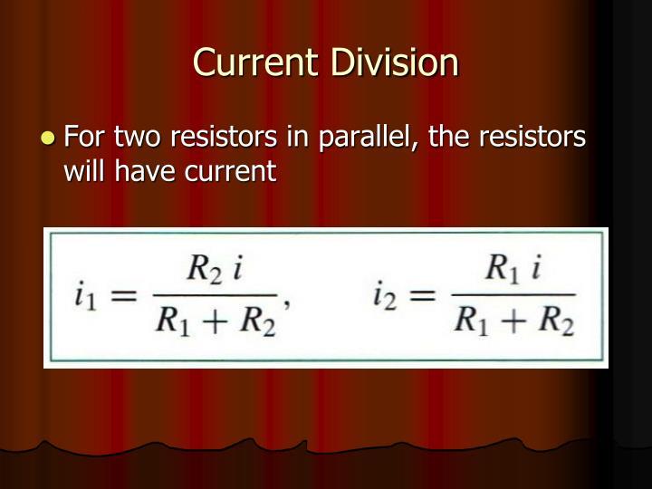 Current Division